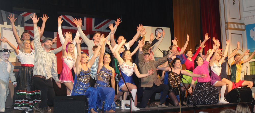 A fantastic end to Radnor Valley YFC's production 'Dont Mention The B Word'