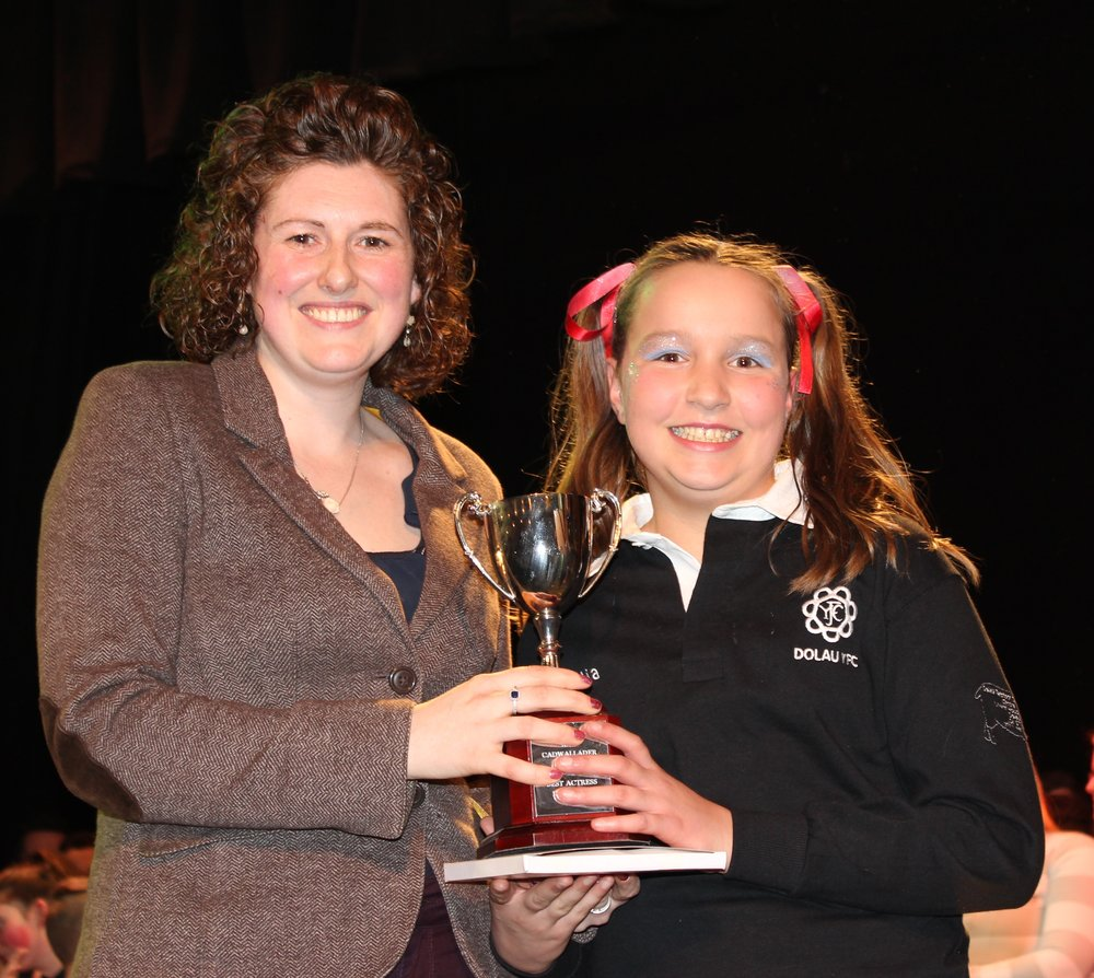 Nia Thomas, Dolau YFC - Ray Cadwallder Award for Best Actress 13 years and under.