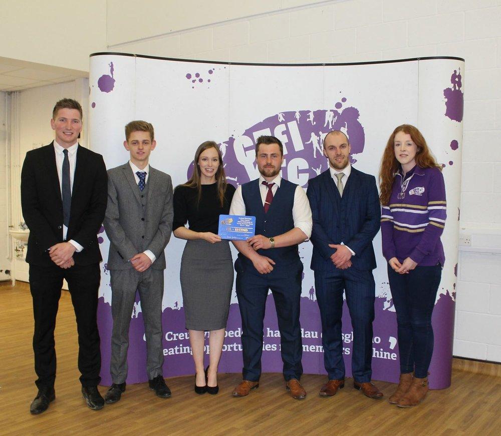 Last year's Senior Debate team at Wales Public Speaking day.