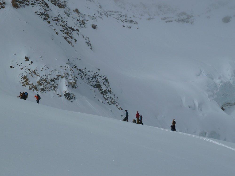 Crossing a high pass
