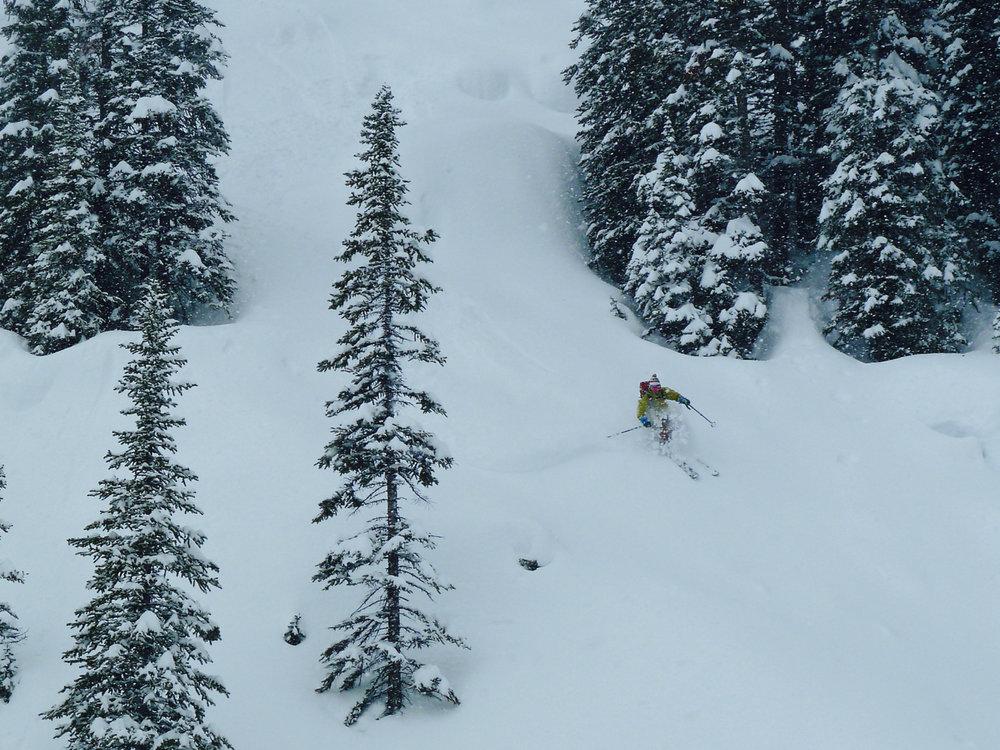 TJ skiing Boulder Boogie