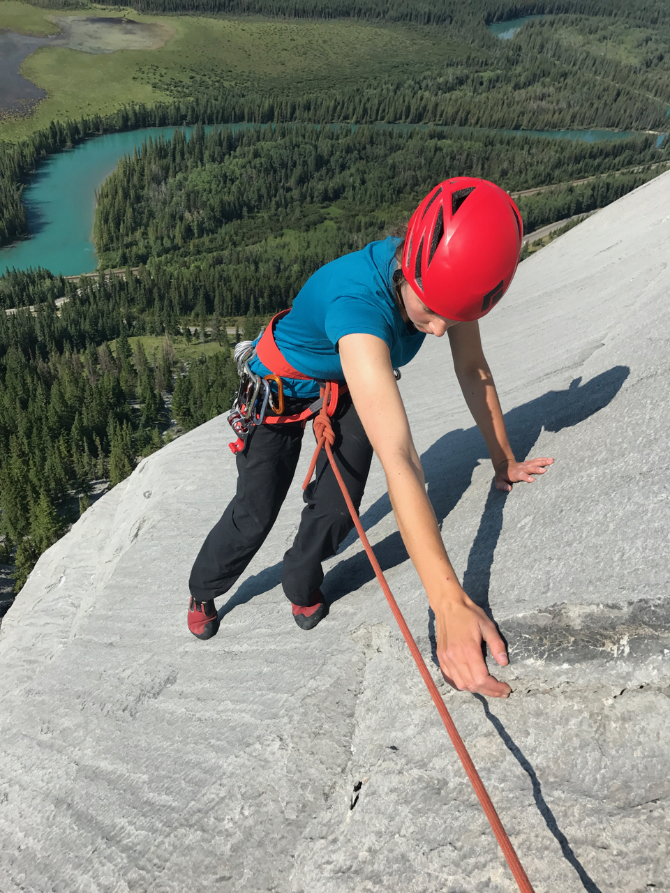 Saige on Aftonroe, an ultra-classic 5.7 near Banff