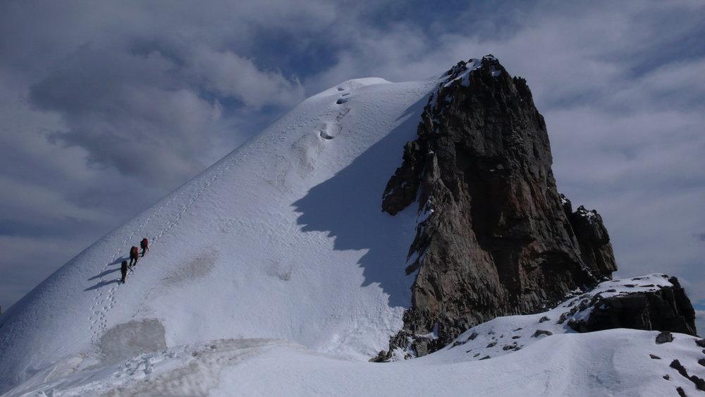 Climbers on Mt. Victoria, my favourite alpine climb