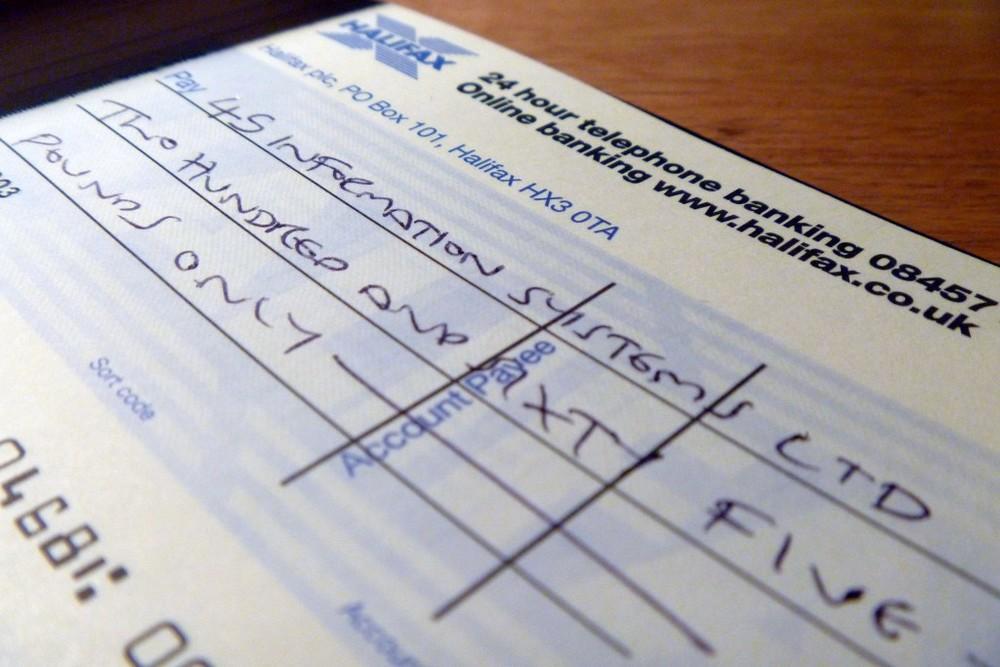 the chequebook