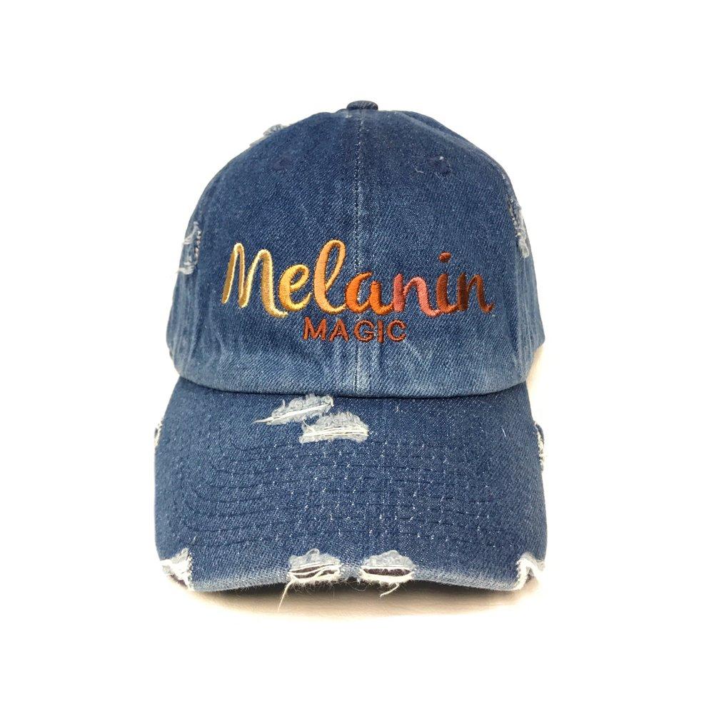 Melanin Magic Denim Hat — a60caa1ec71a