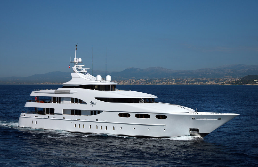 CAPRI   GUESTS: 12 | CABINS: 6 | CREW: 16  LOA: 58.60m | SPEED: 13kn | PRICE: €336,000 p/w