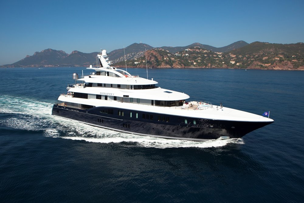 EXCELLENCE V GUESTS: 12 | CABINS: 7 | CREW: 15  LOA: 60.00m | SPEED: 13kn | PRICE: €725,000 p/w