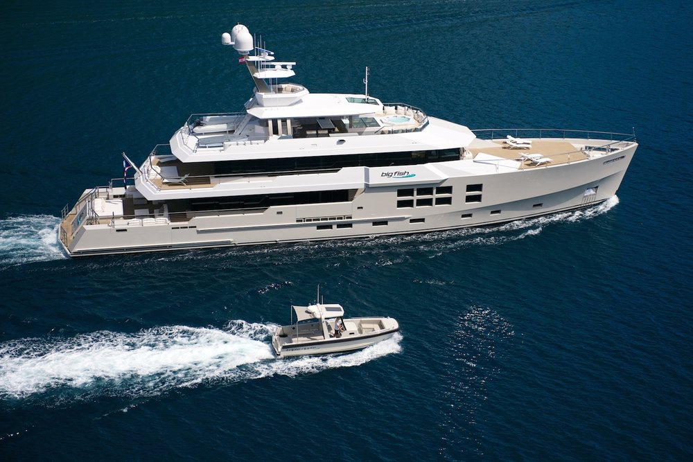BIG FISH GUESTS: 10 | CABINS: 5 | CREW: 10  LOA: 45.00m | SPEED: 10kn | PRICE: $275,000 p/w