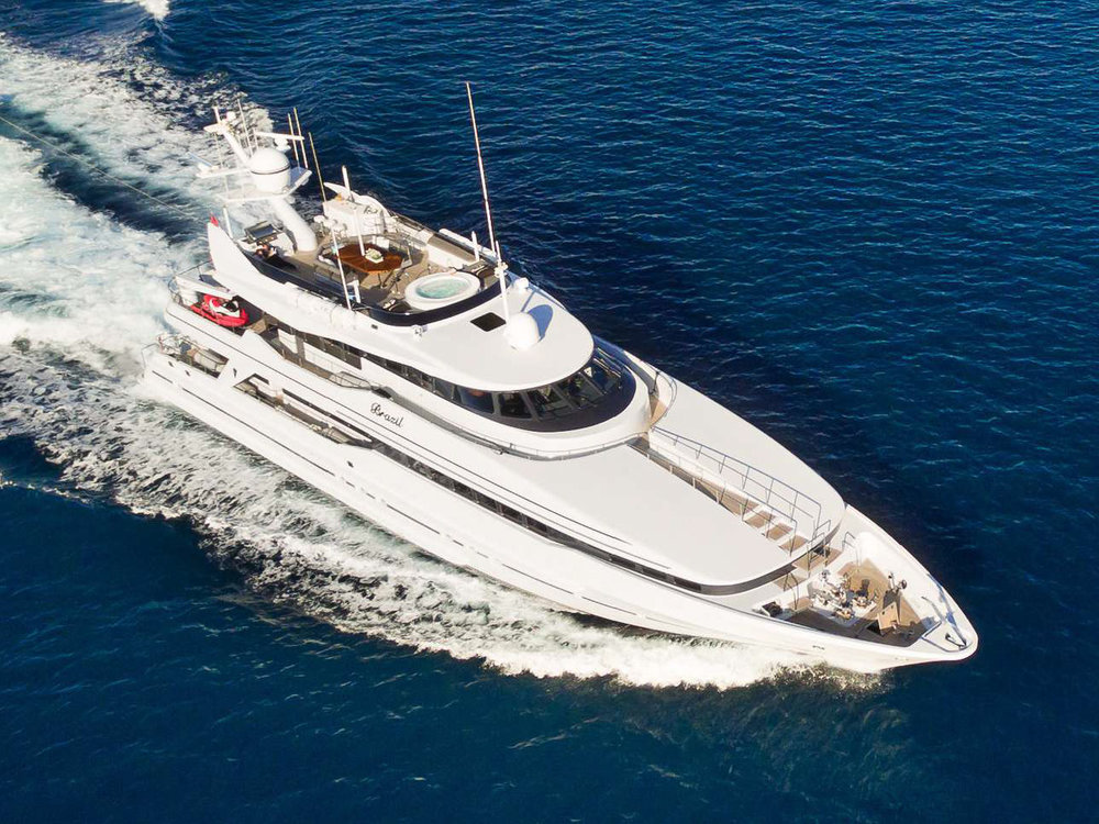 BRAZIL   GUESTS: 10 | CABINS: 5 | CREW: 8  LOA: 39.90m | SPEED: 14kn | PRICE: €100,000 p/w