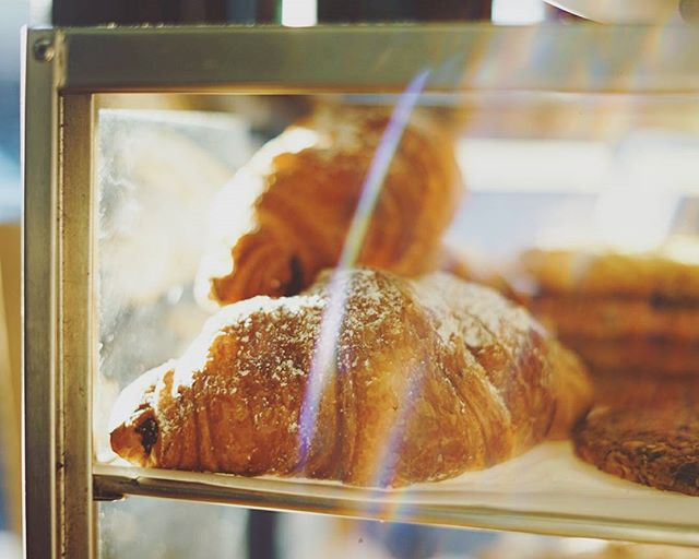 Roberta's chocolate croissants are lit.