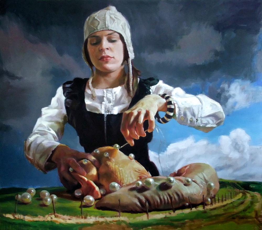 'Her Dizziness Grew' 180x205 cm, oil on linen