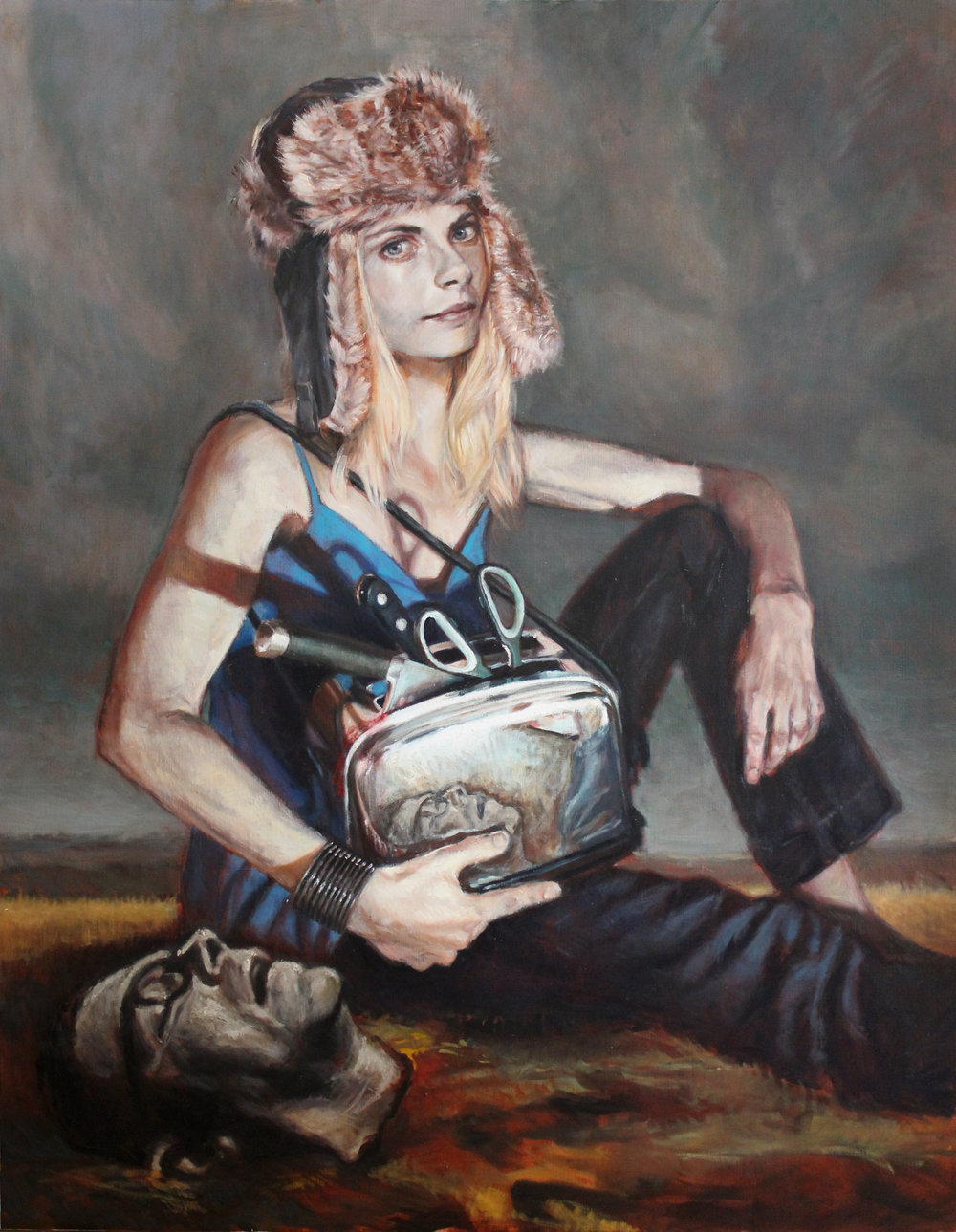 'Judy's Day (Judith and Holofernes)' 190x150cm, oil on linen
