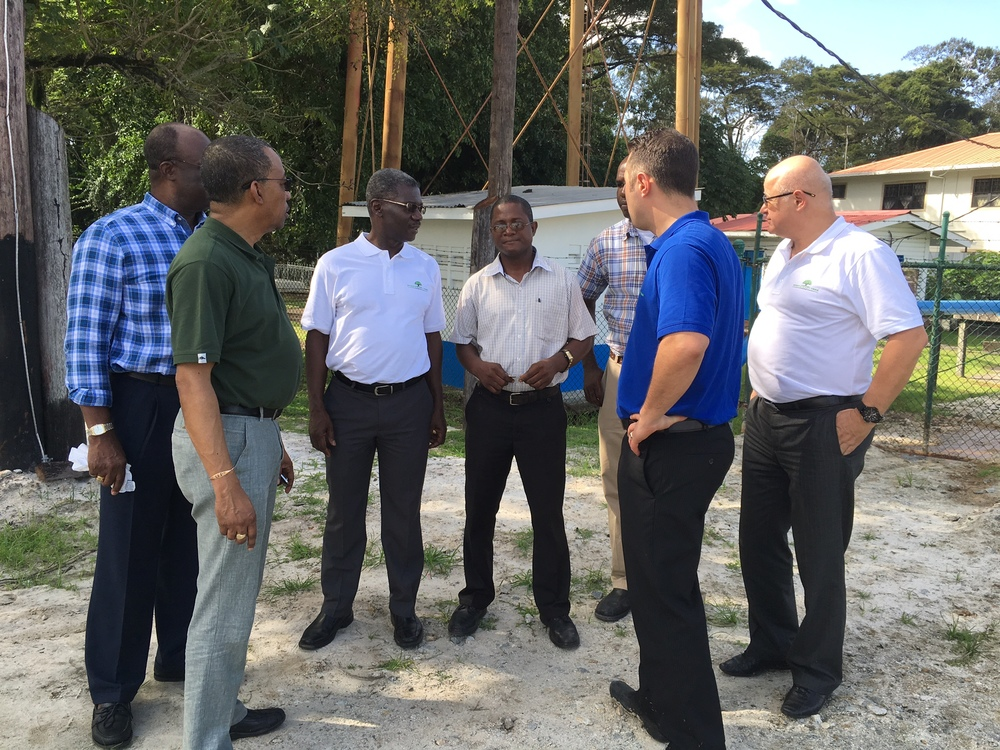 GreenHeart Tree Energy team with Guyana Water Inc. (GWI) engineers.