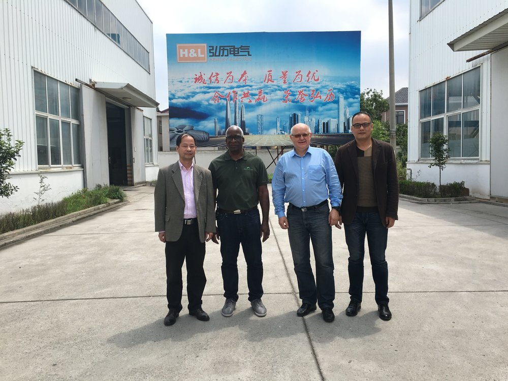 GHTE Executives at Henley Electric, China
