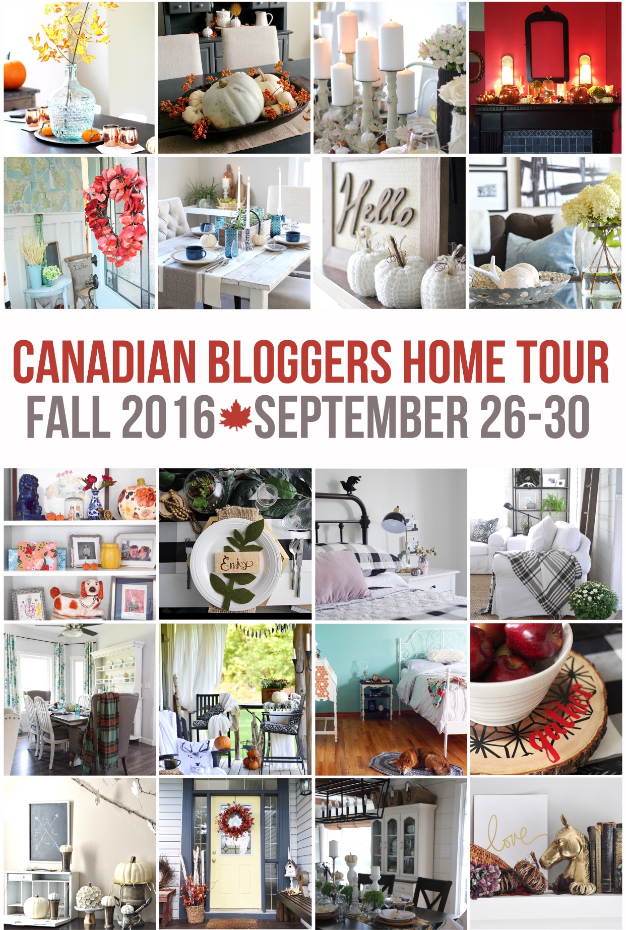 Sep 30 The WANT List: Canadian Bloggers Home Tour   Fall 2016 {09.30}