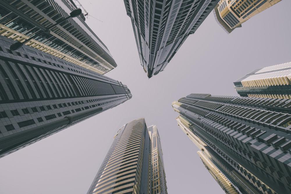 Look up! Buildings in Dubai