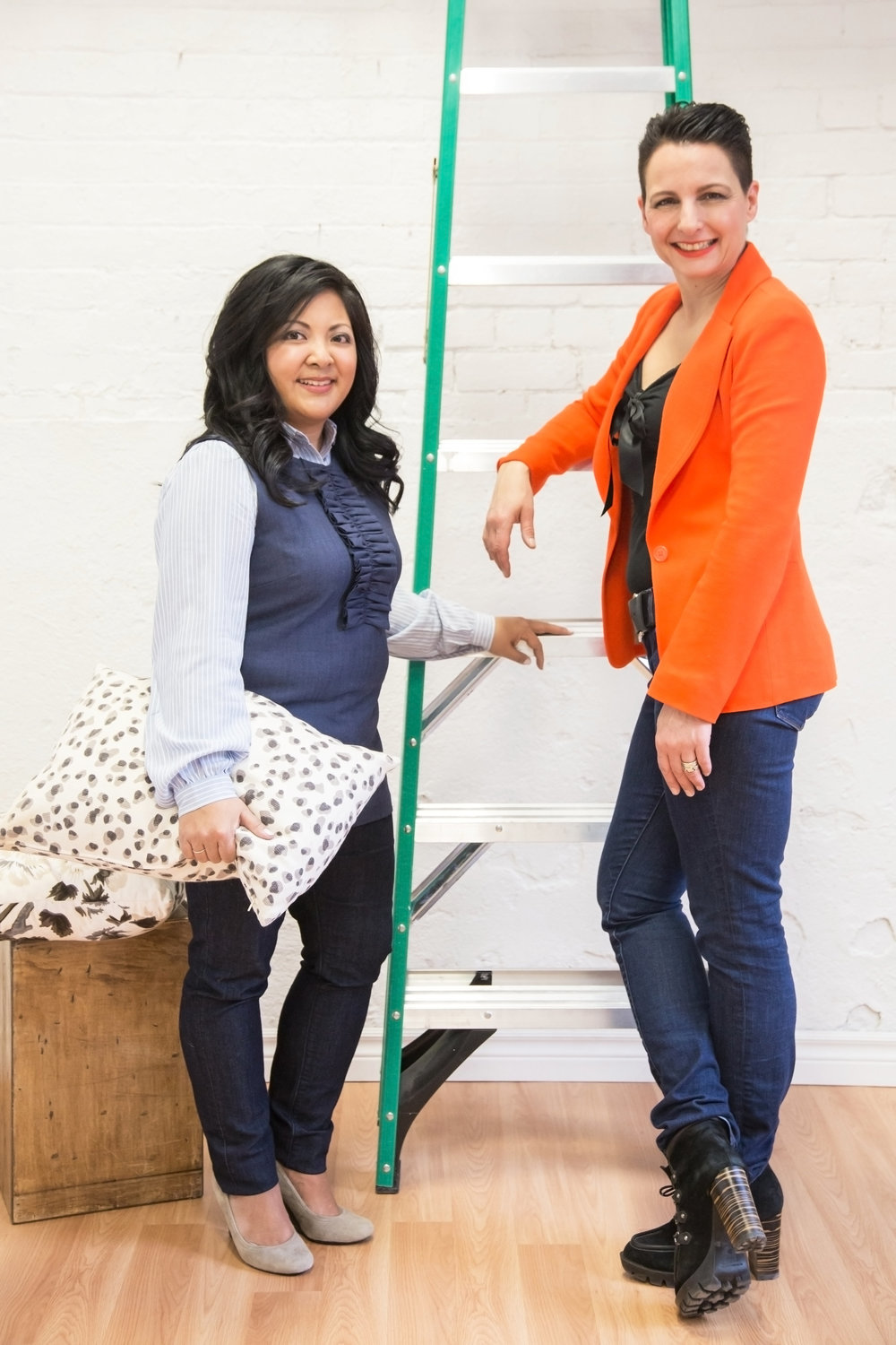 Storyhouse Co. co-founders Jennifer Flores and Cynthia Zamaria; photo credit: LLB Creative