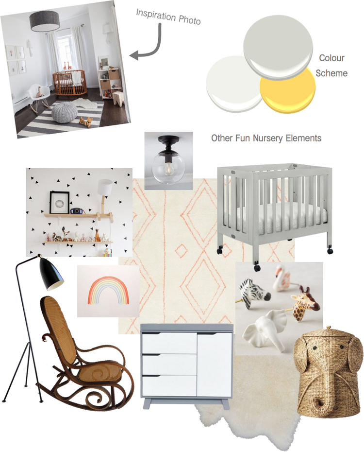 Client Sweet Dreams nursery mood board
