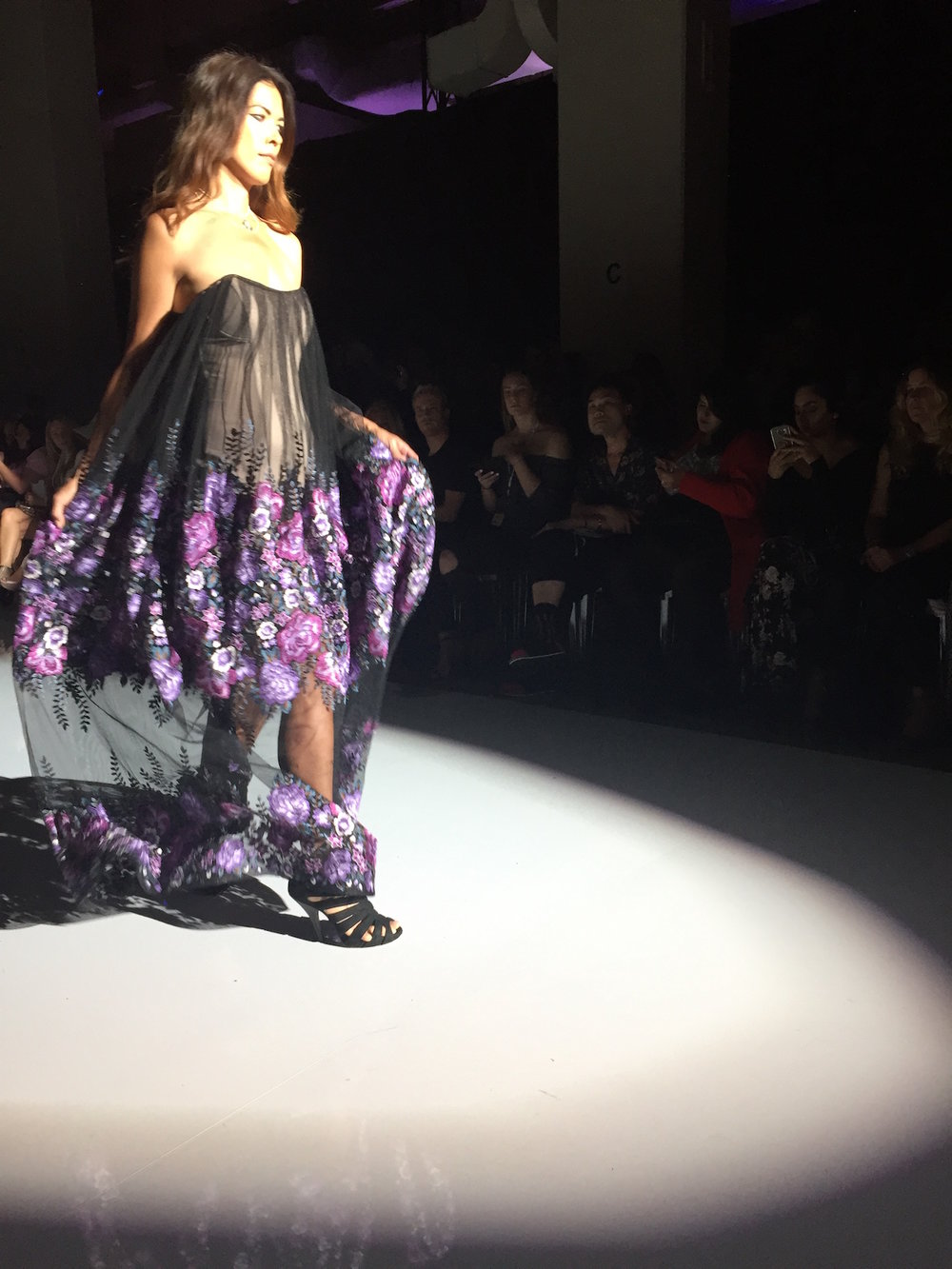 A dress from Lesley Hampton's Spring/Summer 2018 runway collection presented at TW Toronto Women's Fashion Week in October 2017