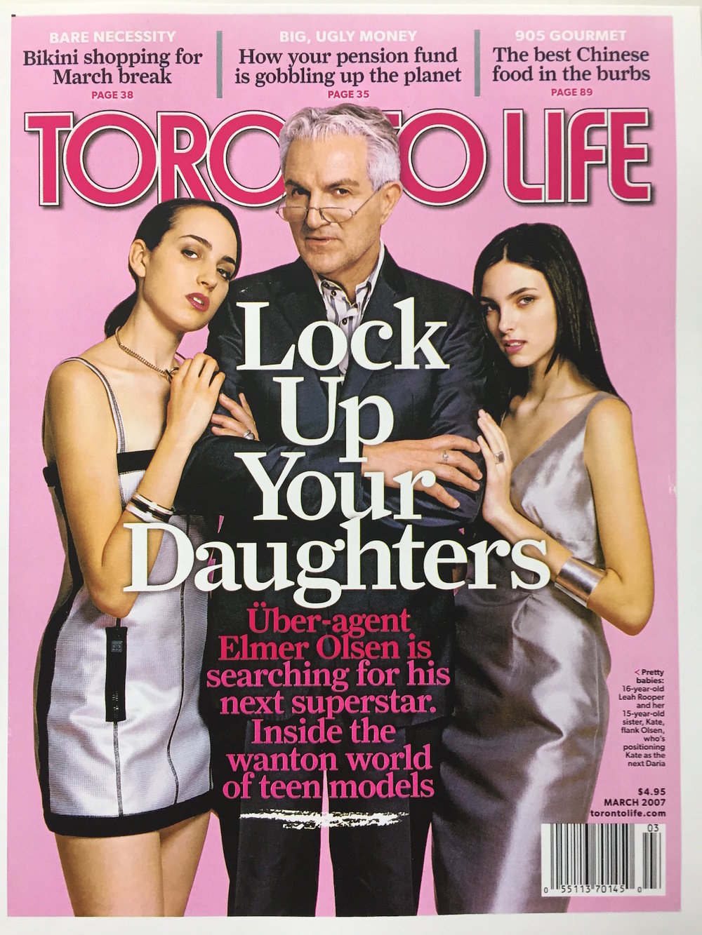Elmer on the cover of Toronto Life magazine, March 2007