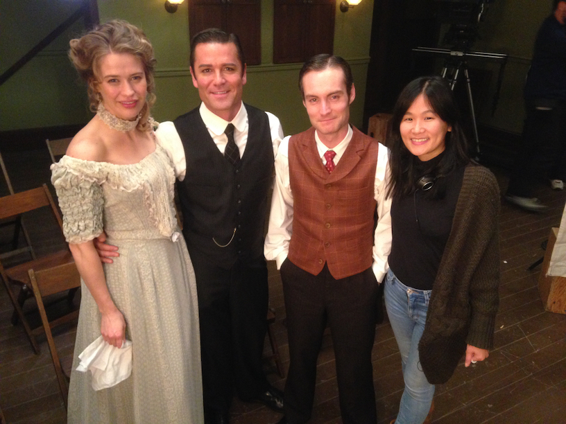 Sherren with actors from Murdoch Mysteries