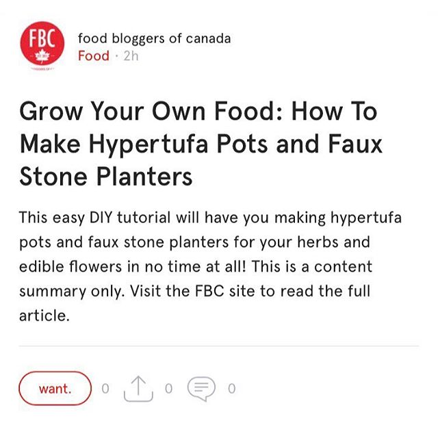 Grow Your Own Food: How To Make Hypertufa Pots and Faux Stone Planters. Reading on @foodbloggersca on the @want.canada app. #wantcanada . . . . . . . #food #foodblog #foodblogger #foodbloggers #canadianfoodblogger #foodbloggersca #fbc #growyourown #growyourownfood #hypertufa #hypertufapots