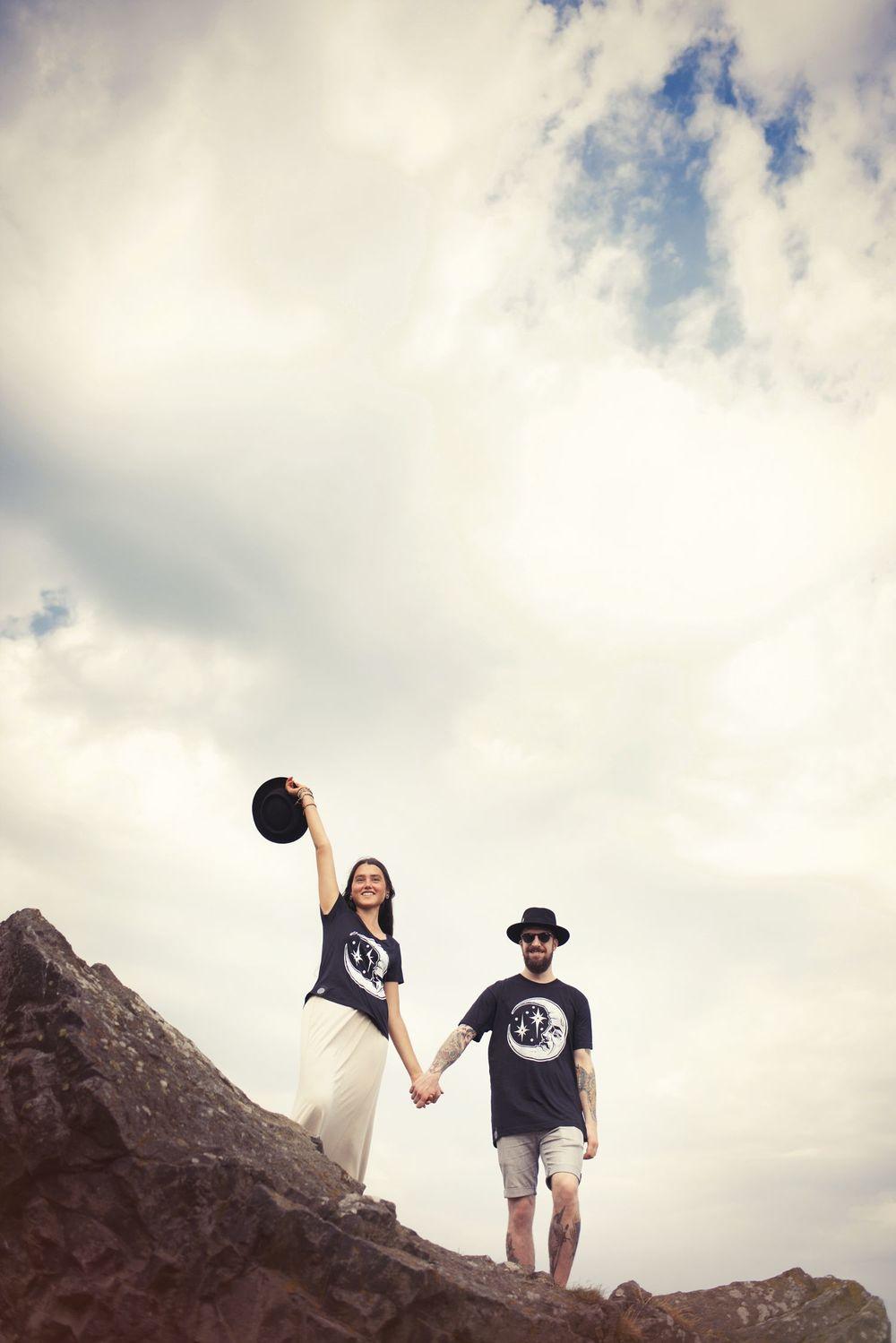 TIE DIE DIY 2015   models  Isabella & Christian
