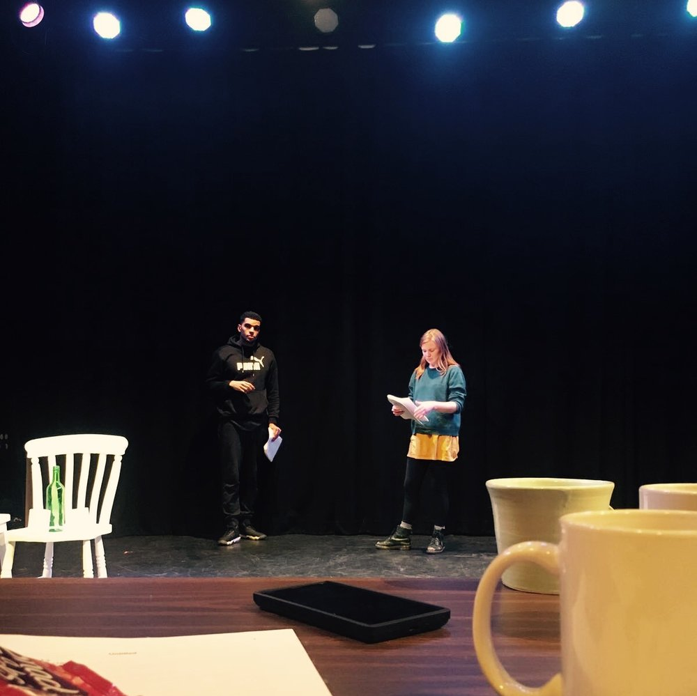 Rehearsing the rehearsed reading... powered by Tea