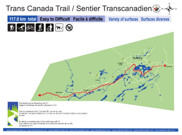 TCT Trail Map