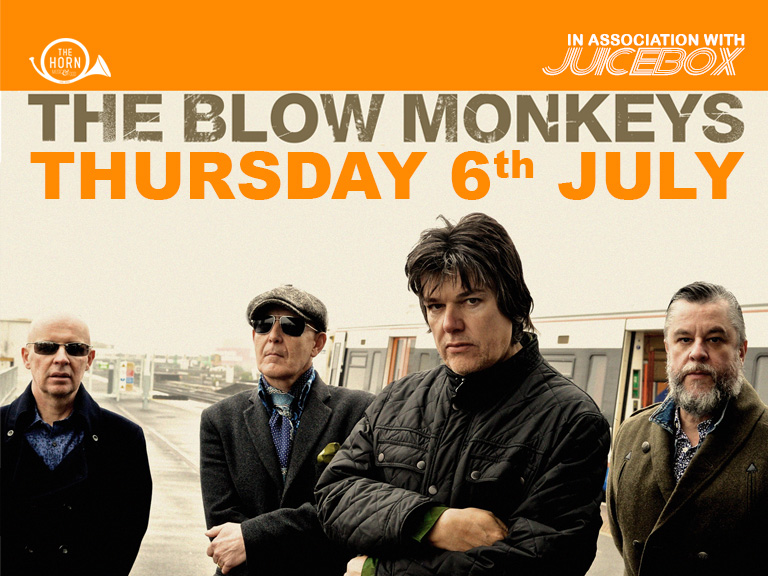 "The Blow Monkeys and Dr Robert With worldwide hits such as ""Digging Your Scene"" and ""It Doesn't Have To Be This Way"", The Blow Monkeys blazed an iconic trail across the 1980's. Led by the charismatic singer songwriter Robert Howard (aka Dr Robert) and ably assisted by bassist Mick Anker, drummer Tony Kiley and saxophonist Neville Henry they further cemented their reputation with hits such as ""Choice?"", ""Wait"" (a UK top five with soul diva Kym Mazelle) and Celebrate (The Day After You) a duet with soul legend Curtis Mayfield. All this plus a song ""You Don't Own Me"" on the multi platinum selling soundtrack to the film Dirty Dancing. The band parted company on a high in 1990 as their ""greatest hits"" compilation ""Choices"" went Top Five and Gold on release. The Blow Monkeys reformed in 2008 and released their first new studio album in 18 years ""Devils Tavern"" followed by ""Staring At The Sea"" in 2011. Their renaissance continued in 2013 with the release of their highly acclaimed album ""Feels Like A New Morning"" and most recently their much lauded ""boogie"" opus ""If Not Now, When?"" released in April 2015. In a career spanning more than 30 years The Blow Monkeys have carved out a unique place in ""pop"" history. They are on an evolutionary path that shows no sign of slowing down making music that is distinctly there own. Long may it continue. TICKETS: £20 Adv / £22 Door - ONSALE THURSDAY 20 APRIL - 10AM Ages 14+ (Under 18s to be accompanied by a guardian)"