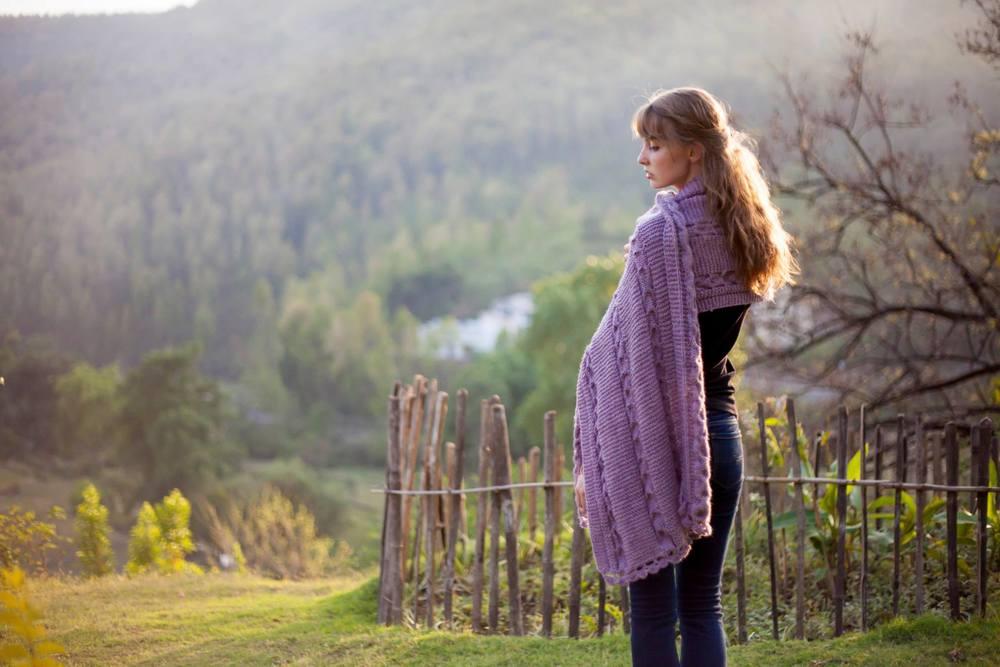 Modeling Ankuri's knits.
