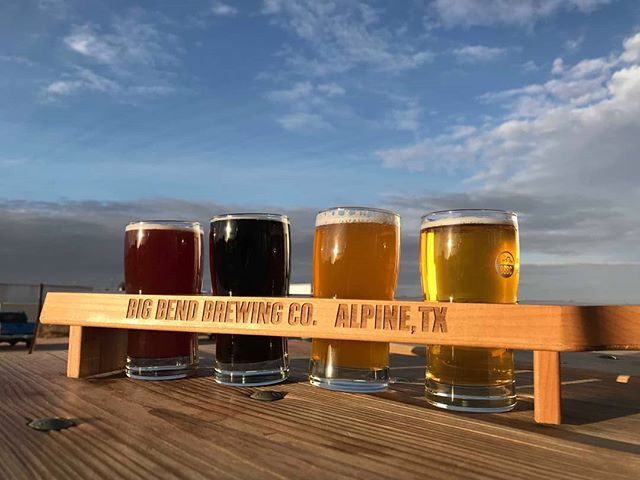 """We got caught by the bartender howling at wild dogs. """"Glad you enjoyed the beer"""". #bigbend #alpine #bigbendbrewery"""