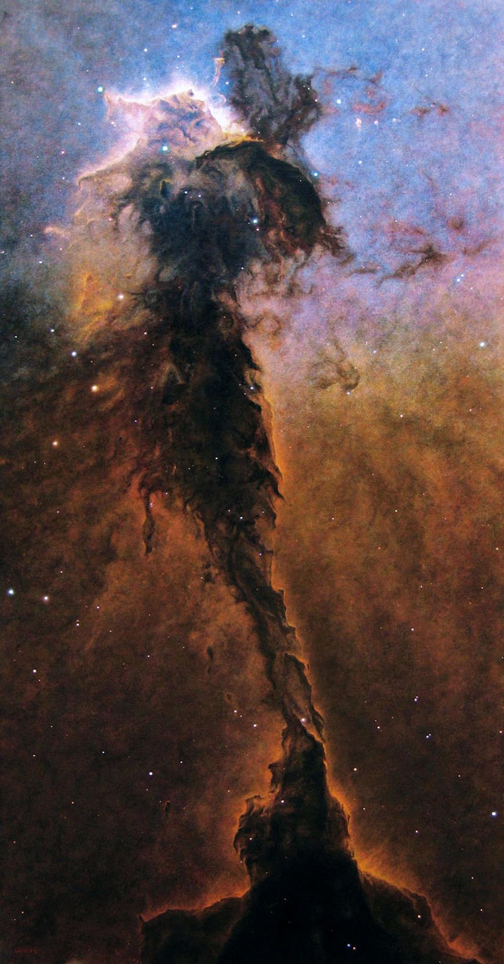"""Eagle Nebula 44x88"""" acrylic/canvas"""