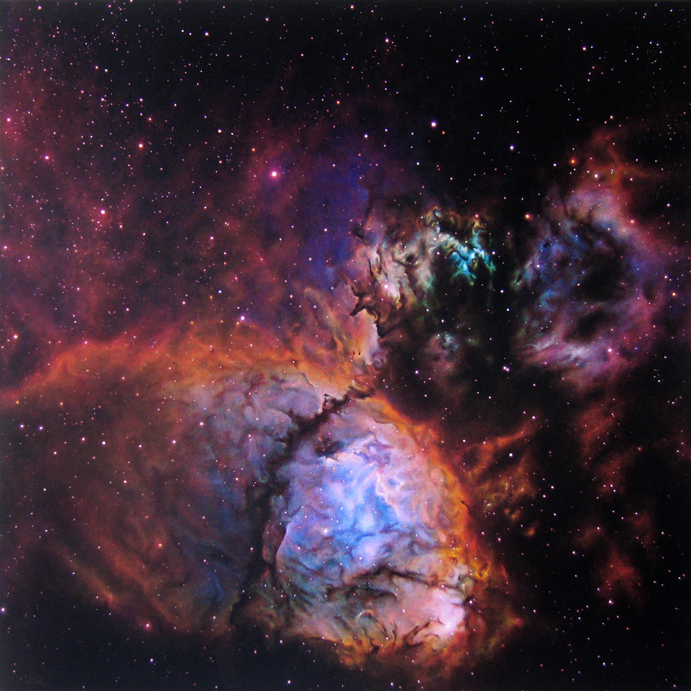 "Heart Nebula 54x54"" acrylic/canvas"