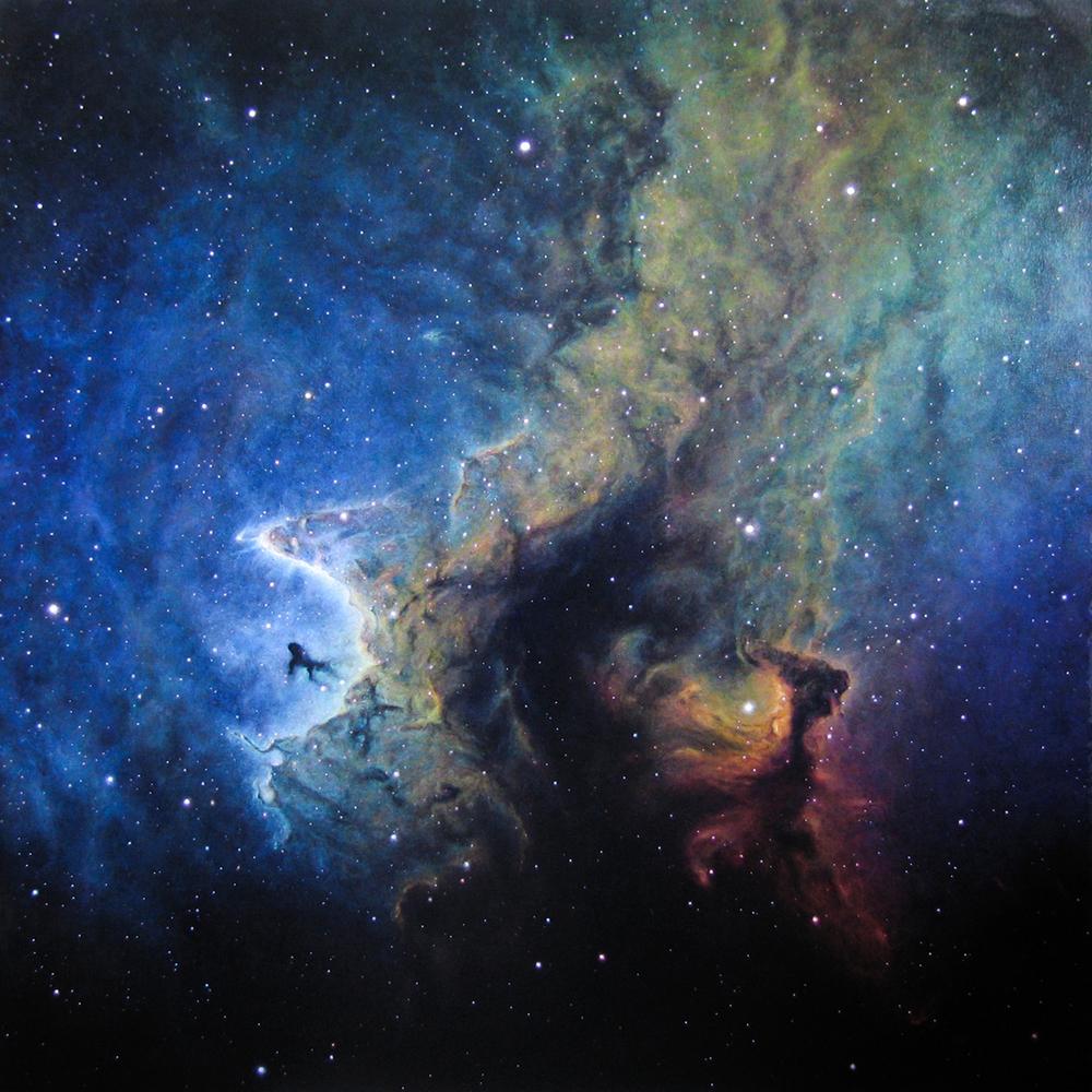 "Soul Nebula  54x54""  acrylic/canvas"