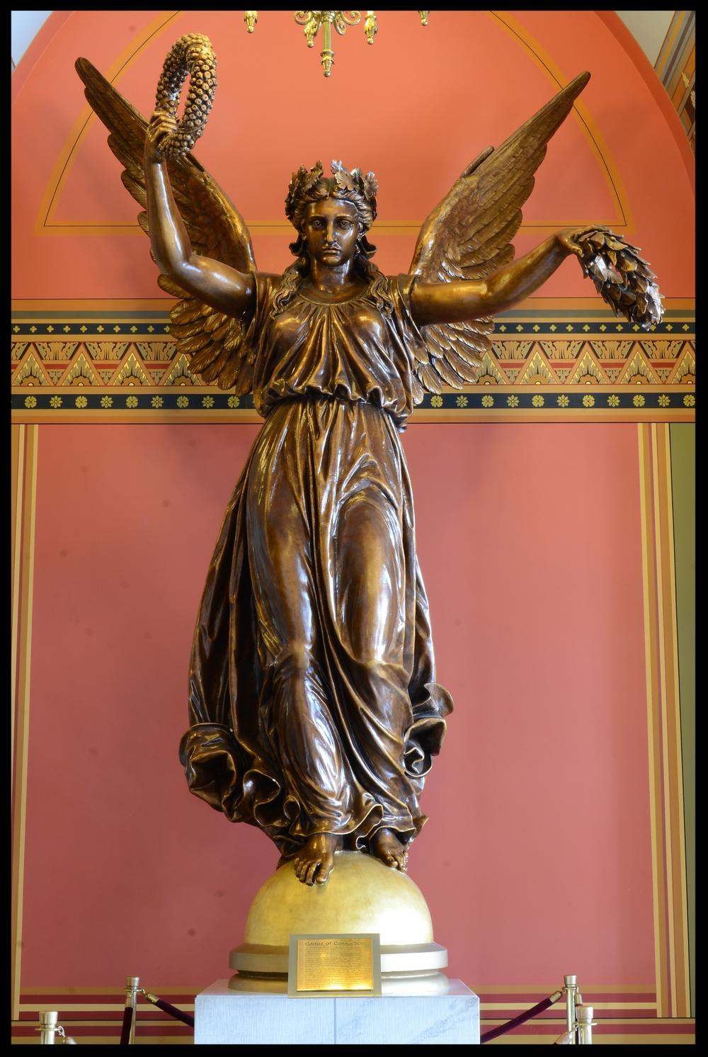 Genius of Connecticut - Bronze  located on the main floor of Capitol building