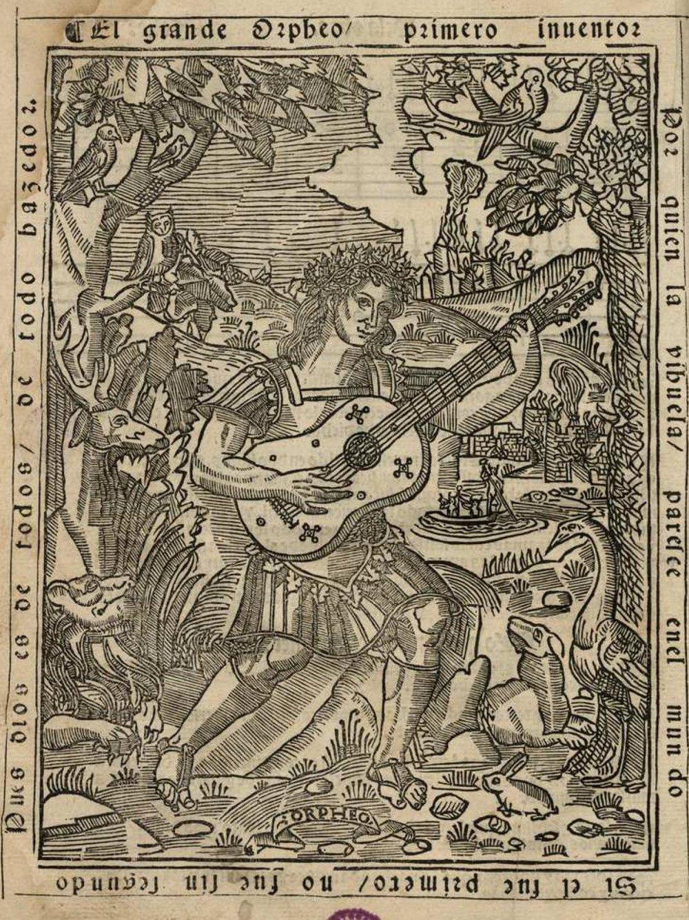 Frontispiece to  Libro de música de vihuela de mano intitulado El maestro