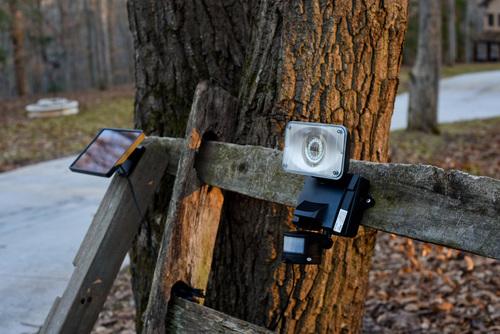 Maxsa Solar Security Video Camera and Floodlight  Lifestyle 1 | LED Lighting | Tiny Life Supply.jpg
