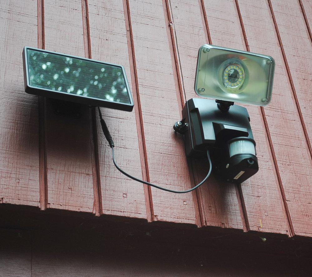 Maxsa Solar Security Video Camera and Floodlight  Lifestyle 2 | LED Lighting | Tiny Life Supply.jpg