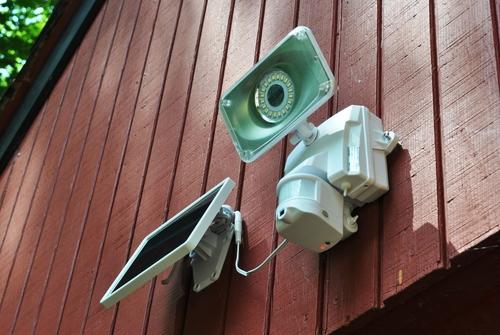Maxsa Solar Security Video Camera and Floodlight  Lifestyle 4 | LED Lighting | Tiny Life Supply.jpeg