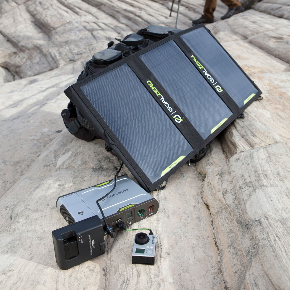 Goal Zero Sherpa 100 Power Bank + 28 Nomad Plus Solar Kit Gal l Solar Kits l Tiny Life Supply.jpg