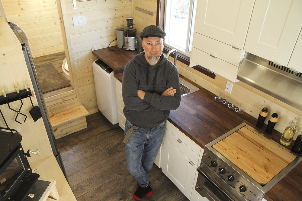 Mark Kirk is the owner, designer and builder of Blackbird Tiny Homes in Cochrane on Monday, March 19, 2018. (Photo by Patrick Earl Concepcion/SAIT)