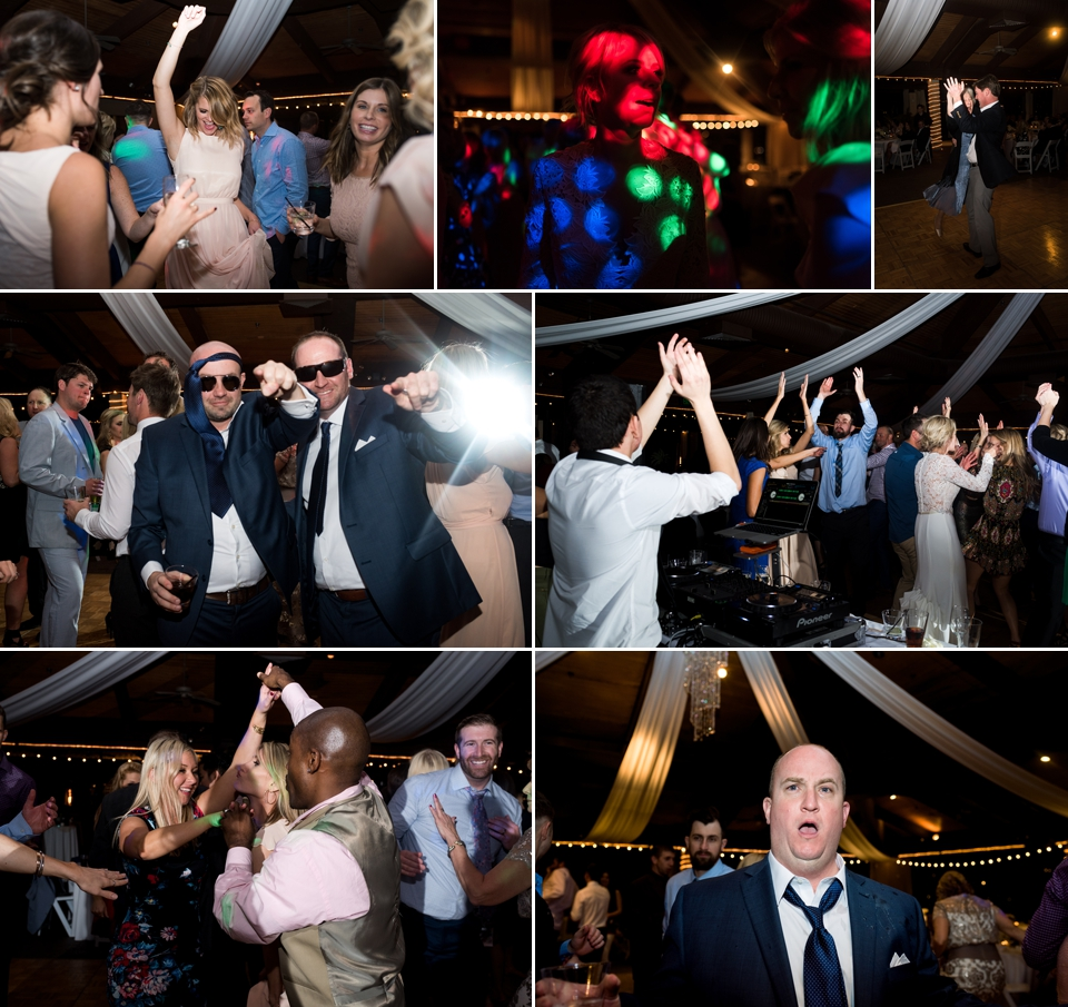 Fun reception filled with dancing and partying.