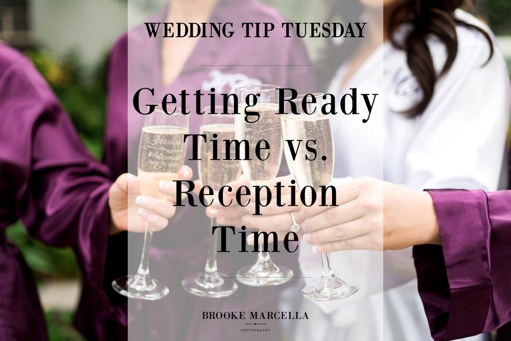 Prep vs. Reception wedding timeline