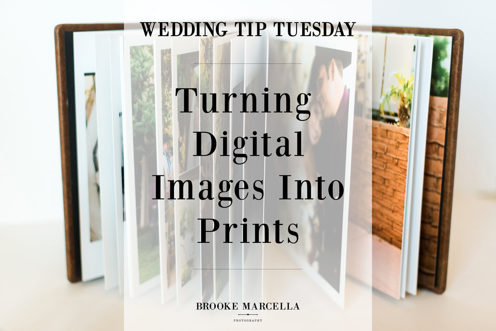 Turning digital wedding images into prints.