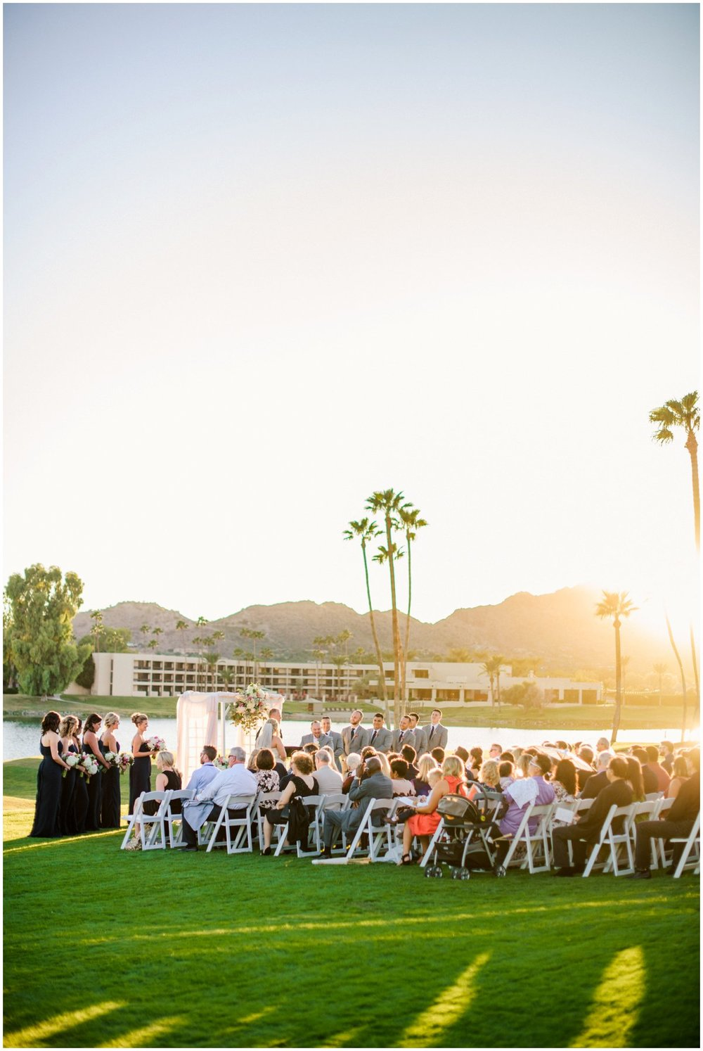 Navy and Gold Romantic McCormick Ranch Wedding in Scottsdale, Arizona with Wedding Planning from Your Jubilee and Flowers and Design by Table Top Etc.