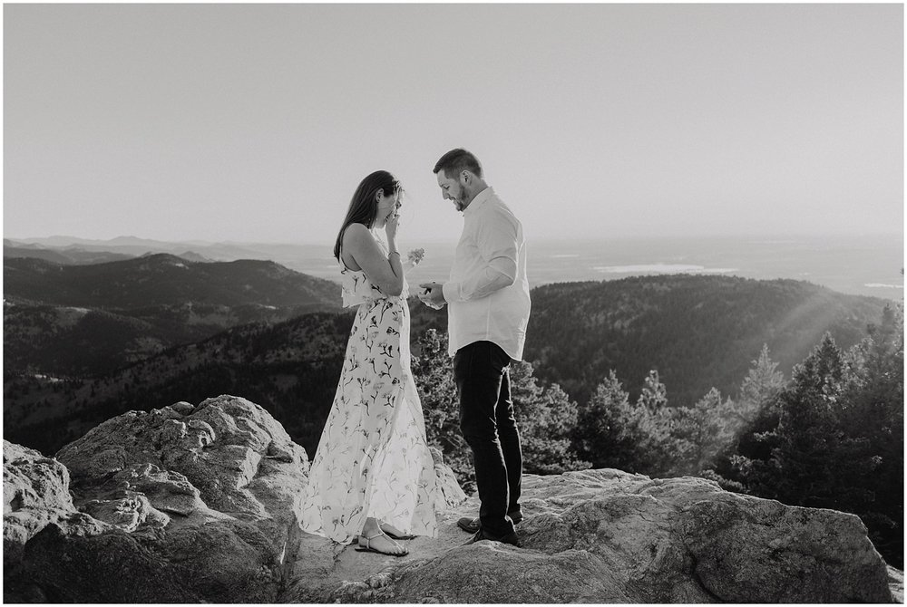 Surprise Sunrise Mountain Proposal in Boulder, Colorado