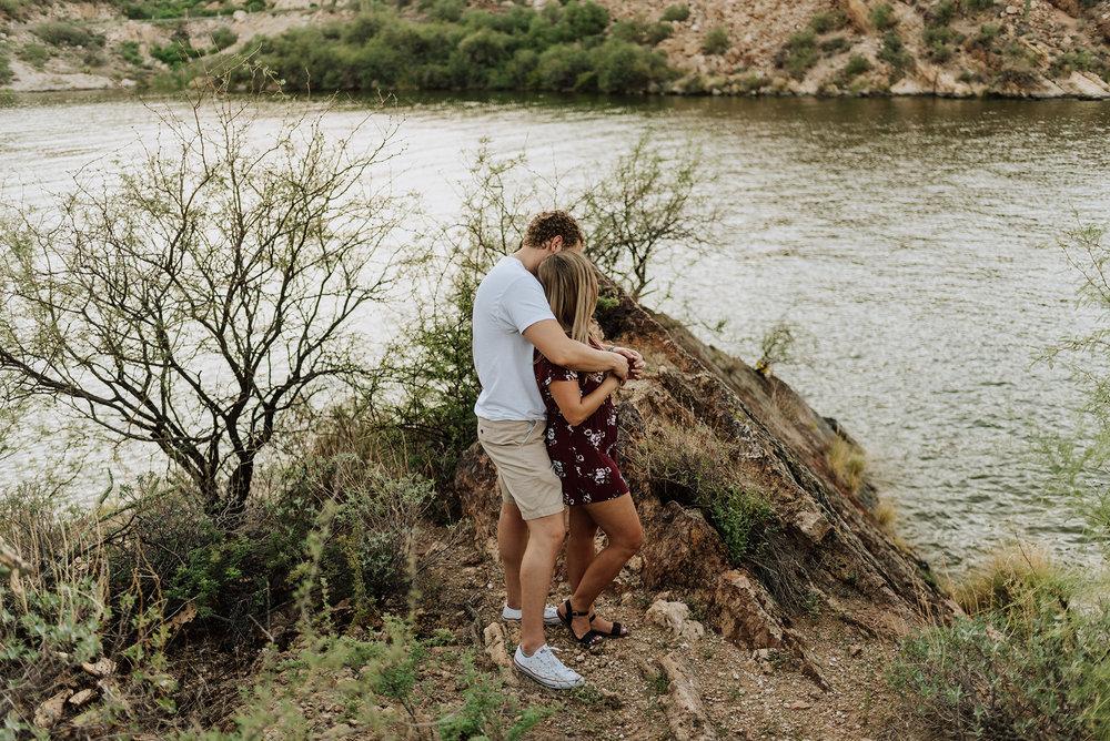 Engagement photo inspiration at Canyon Lake in Arizona.