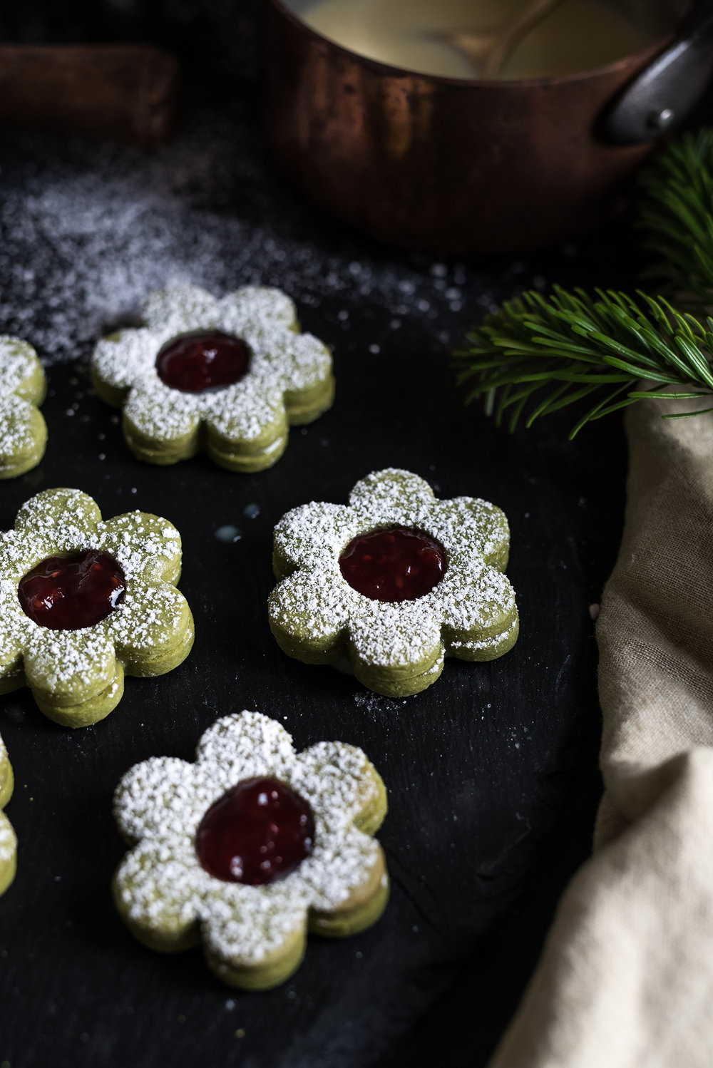 Christmas Preparation With Lidl - Matcha Butter Cookies