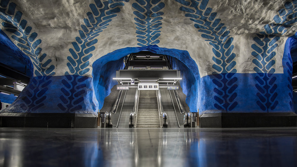 T-Centralen Metro Station in Stockholm, Blue line